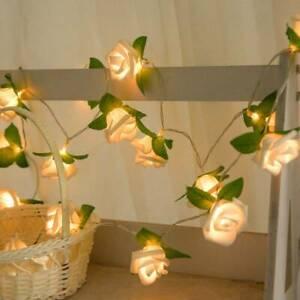 10LED-Rose-LED-String-Lights-Wedding-Home-Decor-Romantic-Battery-Flower-Lamp
