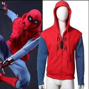 US Spider-Man:Homecoming Peter ParkeHooded Coat Jacket Top Zipper Sweats Hoodie