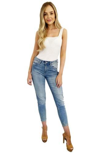 Ladies Seconds Super Skinny Blue Ankle Grazer Jeans