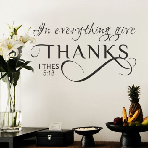 Inspired Bible Wall Sticker In Everything Give Thanks Quote Removable Home Decor