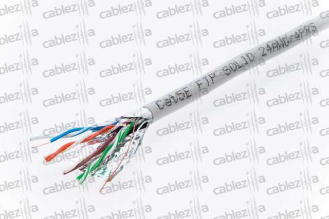 CAT5E FTP 1000ft GREY SHIELDED CABLE STP SOLID WIRE ETHERNET LAN NETWORK PULLBOX