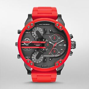 5c4af97c6772 Diesel Original DZ7370 Mr Daddy 2.0 Red Silicone Strap Chronograph ...