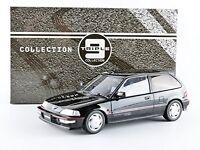 Triple 9 1:18 Scale Honda Civic Ef9 Sir Vtec Diecast Model Replica Car In Black