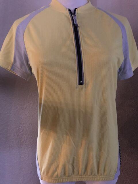Canari Serenity Womens Large L LG Cycling Jersey Sleeveless Tank Top Yellow