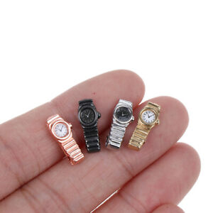 1-4x-1-12-Miniature-Watch-for-Dollhouse-Decor-Mini-Furniture-Toy-Accessories-Jn