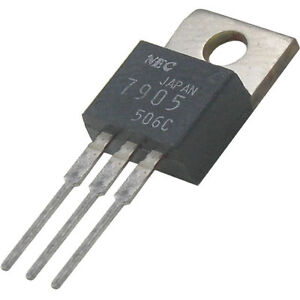 5-Stueck-Spannungsregler-7905-5V-1A-Fabr-NEC-TO-220-ohne-Rohs-Servicealtbestand