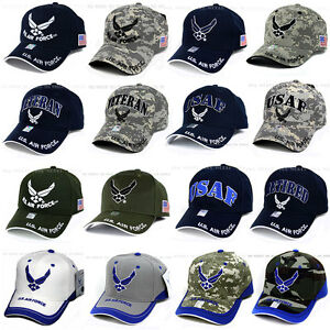 6df4a494bde U.S. AIR FORCE hat USAF Military Logo Embroidered Official Licensed ...