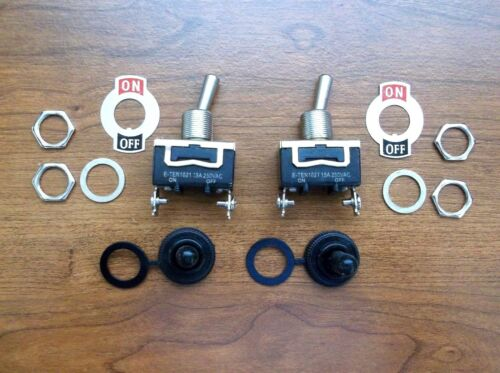 2 BBT Marine Grade On//Off Waterproof Toggle Switches