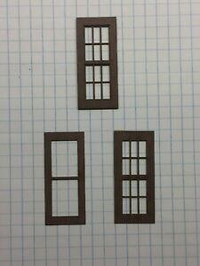 "2-Piece 7//8/"" x 1-3//4/"" 10 Ct. Lot W3-York1-1 O Scale Laser Cut  Windows"