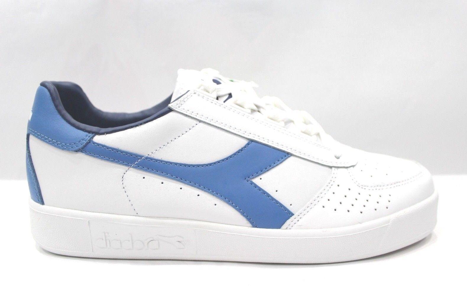 Diadora Borg Elite Scarpe scarpe scarpe da ginnastica bassa Unisex Bianco Azzurro