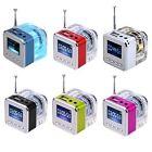 Portable Mini Speaker LCD HiFi Music MP3/4 Player Micro SD/TF USB Disk FM Radio