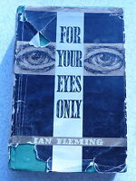 VINTAGE JAMES BOND BOOK FOR YOUR EYES ONLY