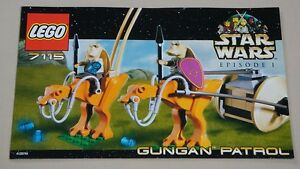 Lego-Star-Wars-7115-Gungan-Patrol-Instruction-Book-Manual-ONLY