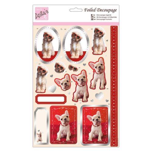 Frustrado Decoupage-Puppy Love para Tarjetas y Manualidades