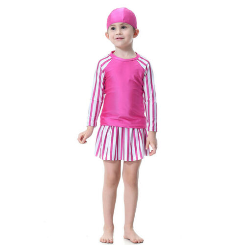 Kids Girls Islamic Muslim Swimwear Modest Burkini Swimsuit Arab Swimming Costume