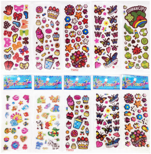 10 sheets 3D child Wall Scrapbooking /& Paper kids Crafts stickers lot Party gift