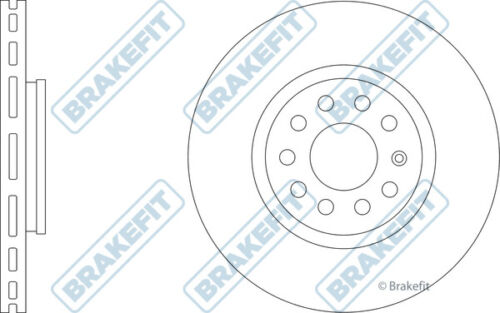 AUDI A4 8E 2.0D 2x Brake Discs Vented Front 06 to 08 BRD 312mm Set New Pair