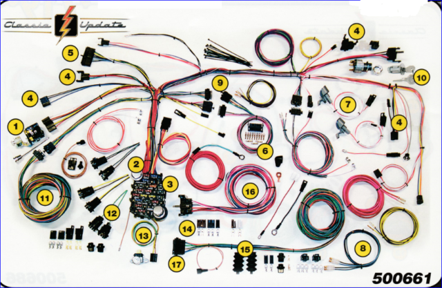 American Autowire 500661 Wiring Kit For 1967