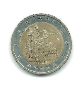 §§  PIECE DE 2 EUROS COMMÉMORATIVE  ALLEMAGNE  2012  BAYERN   (Atelier D) §§