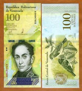 Venezuela-100000-100-000-Bolivares-2017-P-New-A-Prefix-UNC