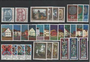 Liechtenstein-Vintage-Yearset-1978-Neuf-MNH-Complet-Plus-Sh-Boutique