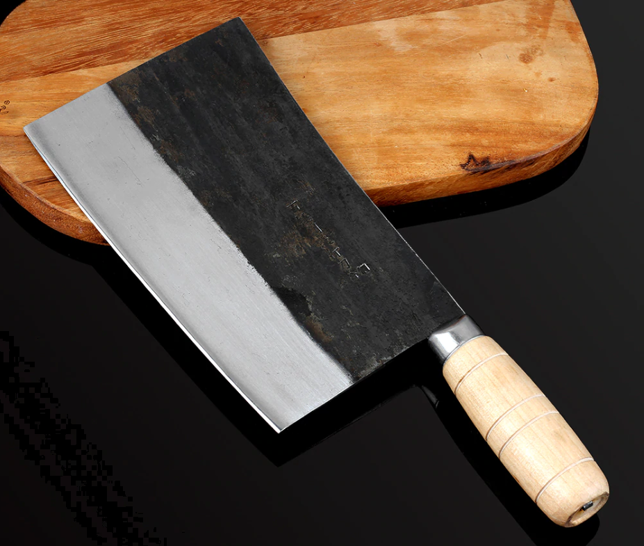Handmade Manual Forged Steel Knife Butcher Heavy Duty Wood Handle Cleaver Chop X