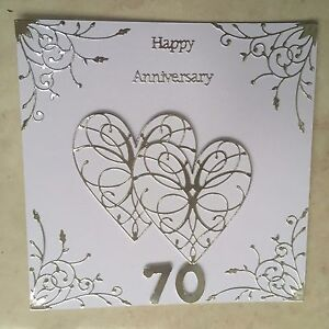 70th Wedding Anniversary.Details About Handmade Platinum Wedding Anniversary Card Happy 70th Wedding Anniversary
