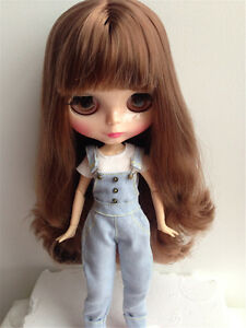 """12/"""" Neo Blythe Doll From Factory Brown Hair With Bang Jointed Body Nude Doll"""