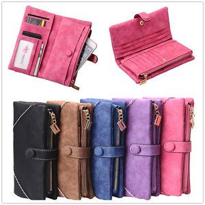 Frauen-Kupplung-Lange-Brieftasche-Fall-Damen-Kartenhalter-Geldboerse-Handtasche