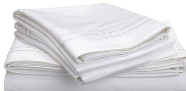 (2) Luxor Style 100% Cotone Egiziano Federe 650tc ~standard~ Bianco *nuovo*