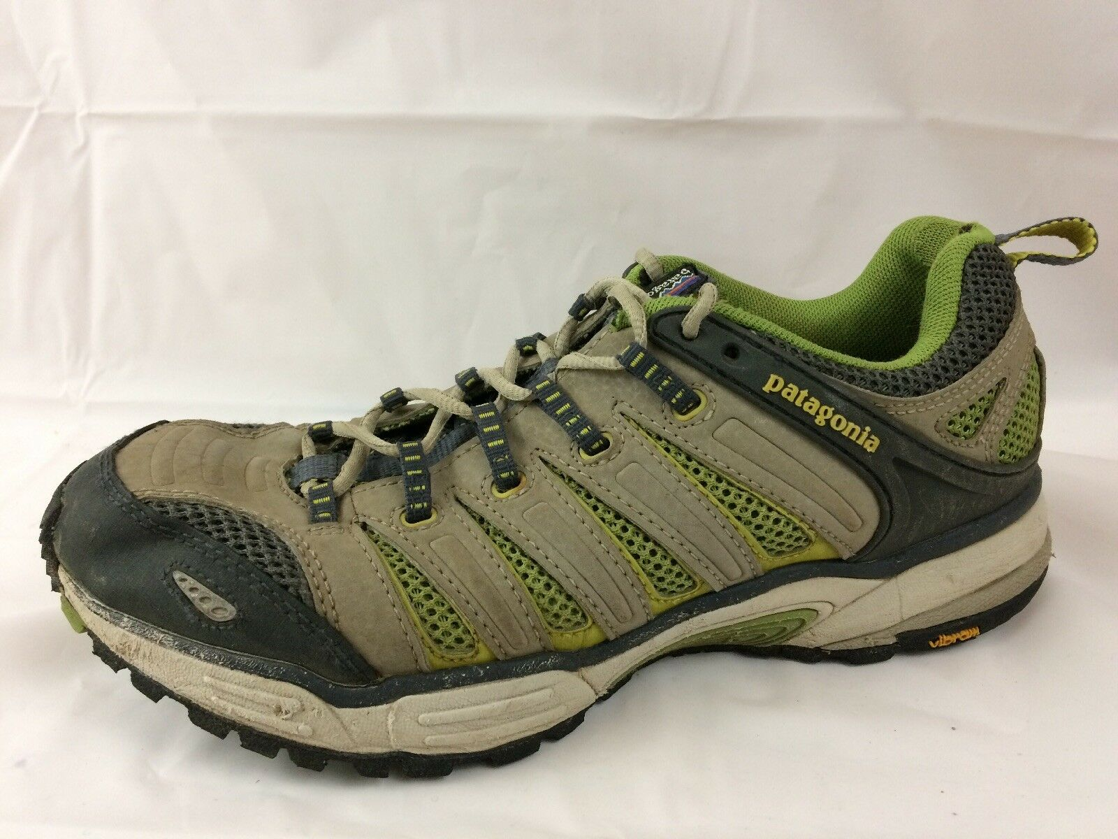 Patagonia Release Burlap Womens 9.5 Med Tan Green Waterproof Vibram Hiking shoes