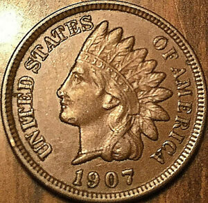 1907-USA-INDIAN-HEAD-SMALL-CENT-Excellent-example