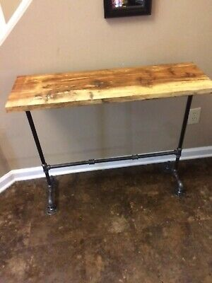 Pleasant Reclaimed Wood Side Table Console Table Rustic Entryway Hall 696552260216 Ebay Machost Co Dining Chair Design Ideas Machostcouk