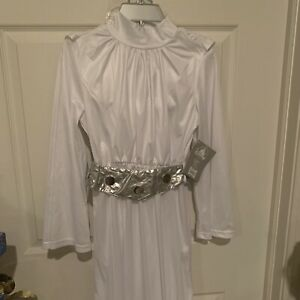 Disney Store Princess Leia Costume with Wig Girls Size 4 7//8 9//10 Star Wars