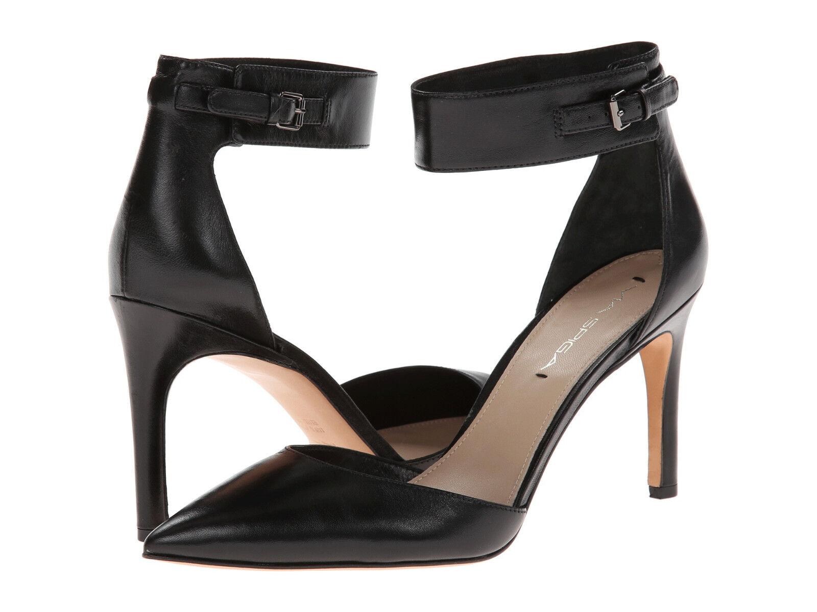 prezzo basso NIB  225 Via Spiga Idabelle Ankle Strap scarpe nero nero nero Leather 6.5 7 7.5 8.5  migliore vendita