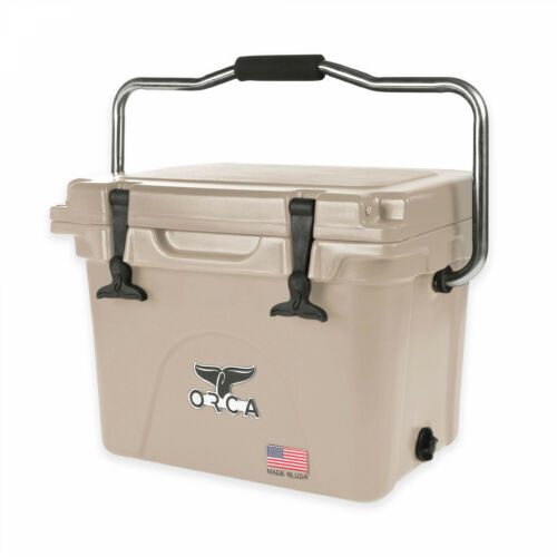 Orca Ice Retention Portable Cooler Outdoor Camping In Tan 20 Quarts