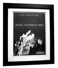 HOLE+Celebrity Skin+LOVE+POSTER+AD+RARE ORIGINAL 1998+FRAMED+EXPRESS GLOBAL SHIP