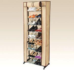 30-Pair-Rack-Shoe-Shelf-Organizer-Rolls-Up-Promotes-Dust-Protection-Zipper-Hide