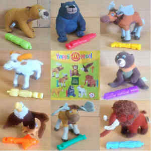 McDonalds-Happy-Meal-Toy-2003-Disney-Brother-Bear-Character-Soft-Toys-Various
