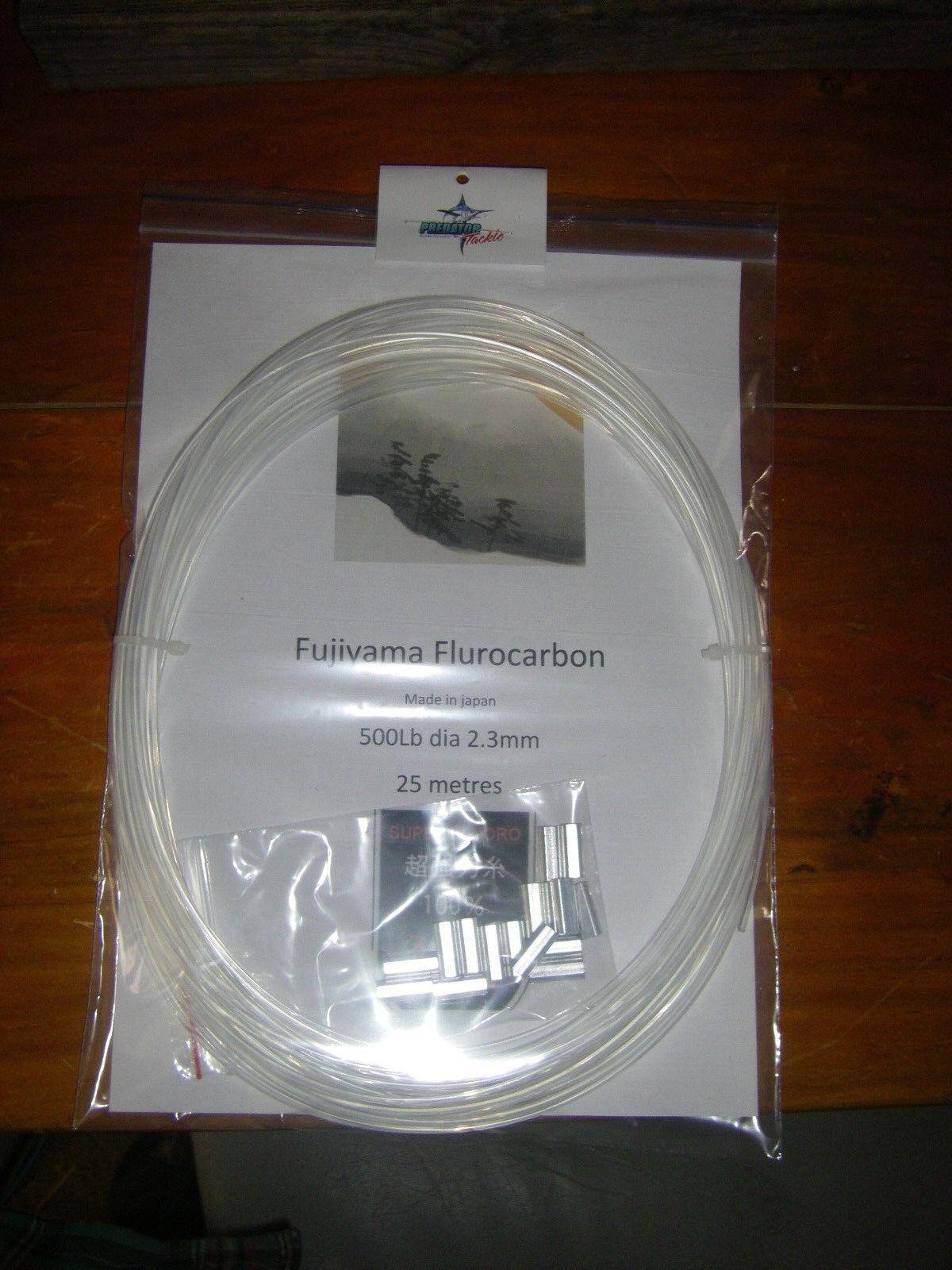 Fujiyama flurocarbon leader 500lb x 25meters