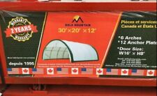 20x30x12 Round Roof Gm Canvas Tension Fabric Tarp Storage Building