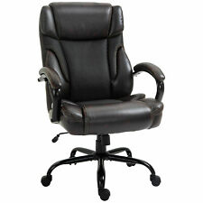 Faux Leather Executive Office Chair Tall Computer Chair With Adjusted Height