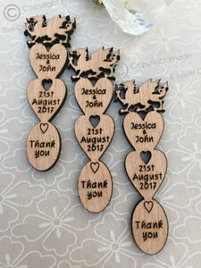 Personalised Welsh Dragon Wooden Love Spoons Favours Vintage Wedding Decoration