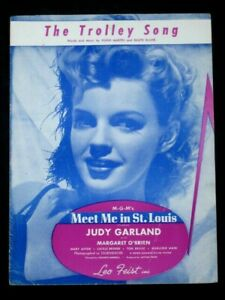 TROLLEY-SONG-40-039-s-Film-sheet-music-MEET-ME-IN-ST-LOUIS-Judy-Garland-Mary-Astor