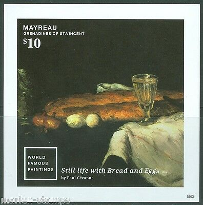 MAYREAU  2015 'STILL LIFE WITH BREAD AND EGGS' BY PAUL CEZANNE S/S   MINT  NH