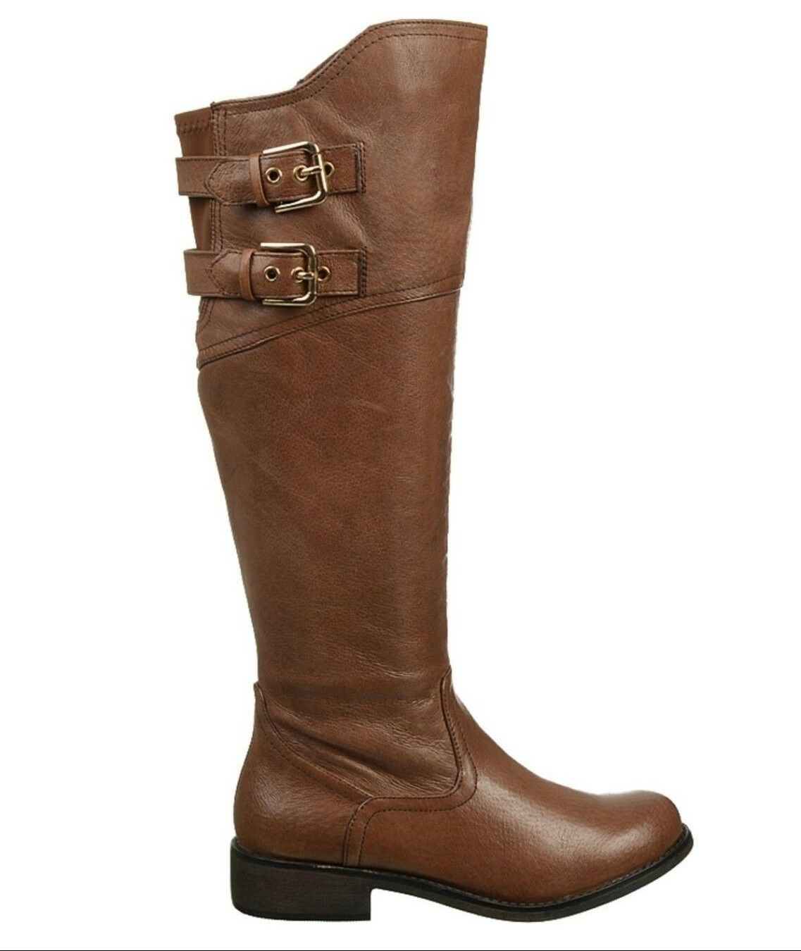 STEVE MADDEN chaussures OTIS RIDING bottes BEIGE LEATHER KNEE HIGH 8