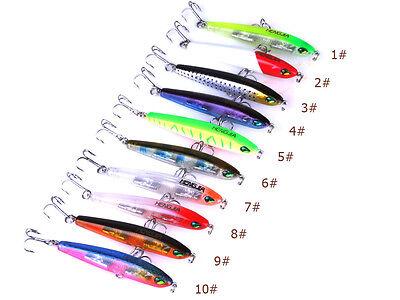 9pcs Wobbler Group Baits Crank Bait Bass CrankBait Tackle Fishing Lures 7.5cm 9g