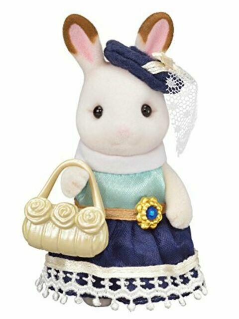 Sylvanian Families CHOCOLATE RABBIT KEY CHAIN LIGHT BLUE ONE PIECE Epoch Japan