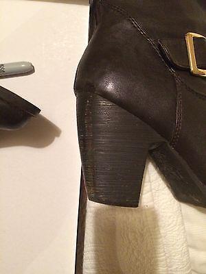 Moda in Pelle Brown botas