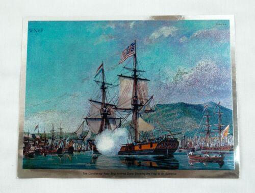 William Nowland Van Powell Andrea Doria Showing the Flag at Eustatius Foil Print